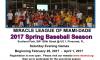 Miracle League of Miami-Dade 2017 Spring Baseball Season