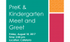 Pre-K & Kindergarten Meet and Greet