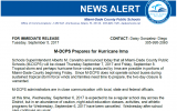 NEWS ALERT: M-DCPS PREPARES FOR HURRICANE IRMA