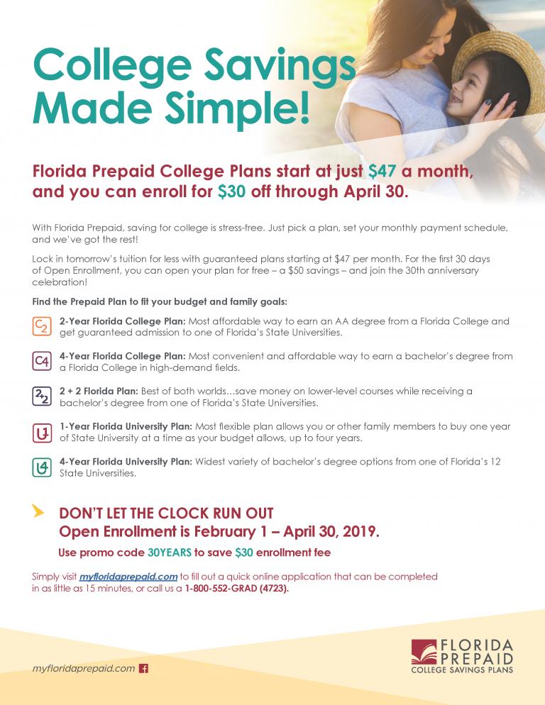 Florida Prepaid College Plans Flyer