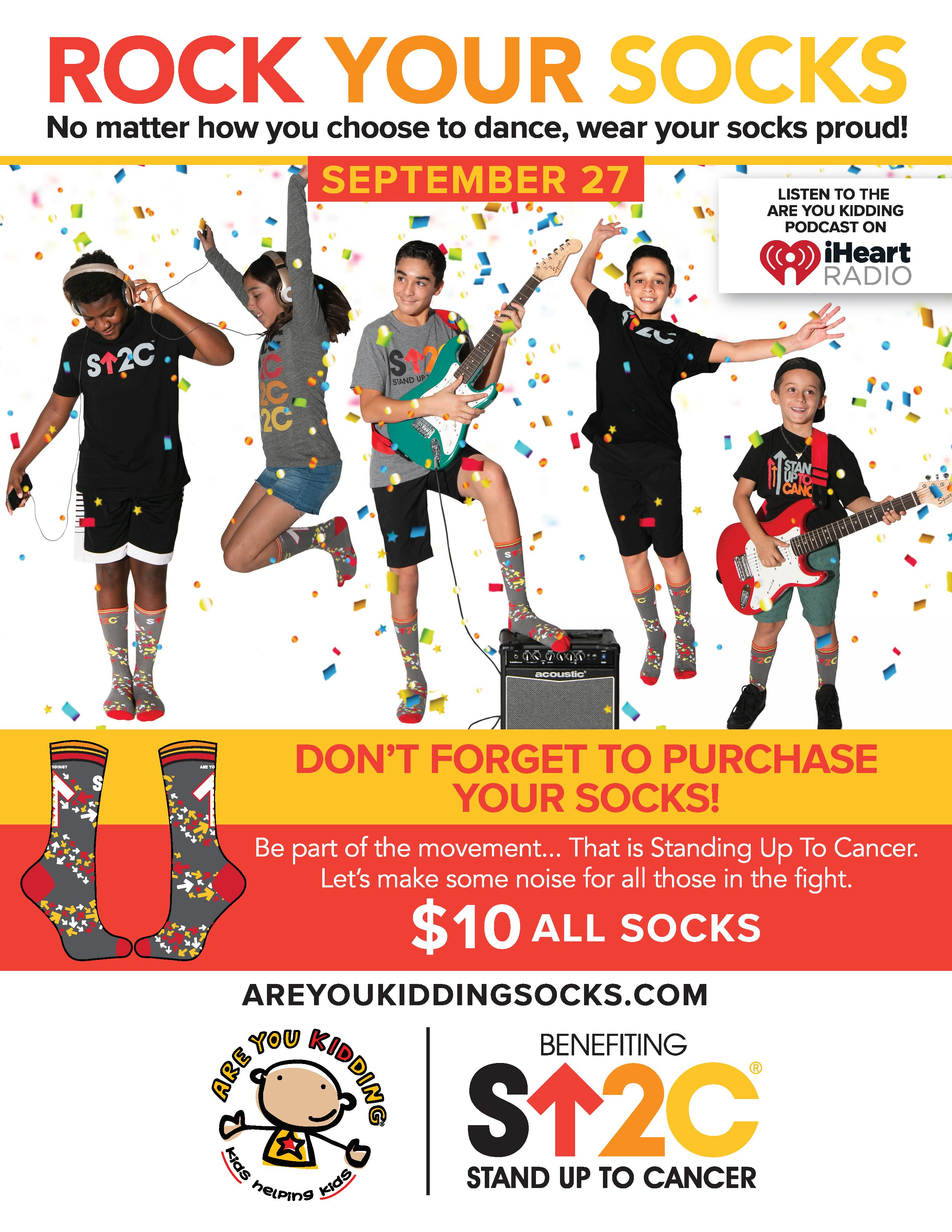 Stand Up To Cancer and Rock Your Socks